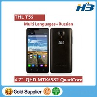 """Low price Smart Phone THL T5S with MT6582 4.7"""" QHD Screen Quad Core 8.0mp Camera Cell Phone THL T5S"""