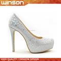 Zapatos de plataforma para señoras de brillantes
