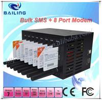 Multi ports gsm modem pool for bulk sms sending wavecom module At commands q24 plus