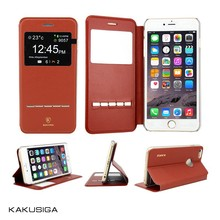 Kaku flip leather luxury design waterproof case for samsung galaxy note 4