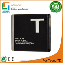 Good selling high quality long life 7D battery mobile phone for tecno