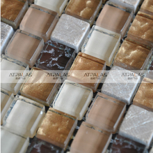 foshan factory supply stone a glass mosaic shower images
