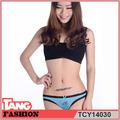 2014 nueva llegada de borde de encaje las mujeres ropa interior transparente