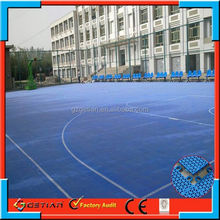 suspended modular price court floor basket ball hot sell