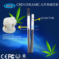 E cigarette China manufacturer dry herb atomizer CBD ceramic glass tank atomizer