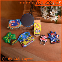 Custom 3D Design Soft PVC Made Souvenir Fridge Magnet For Sale