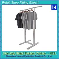Customized powder coating man T-shirt clothing display rack