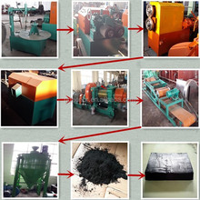 Semi-automatic nice quality waste tyre recycle plant/Rubber Powder Production Line/tire cutter