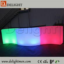 La mejor venta multicolor exterior iluminado plástico móvil control remoto portátil barra de bar para exterior eventos