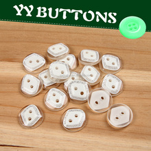 fancy resin two hole transparent half ball shape rhombus button