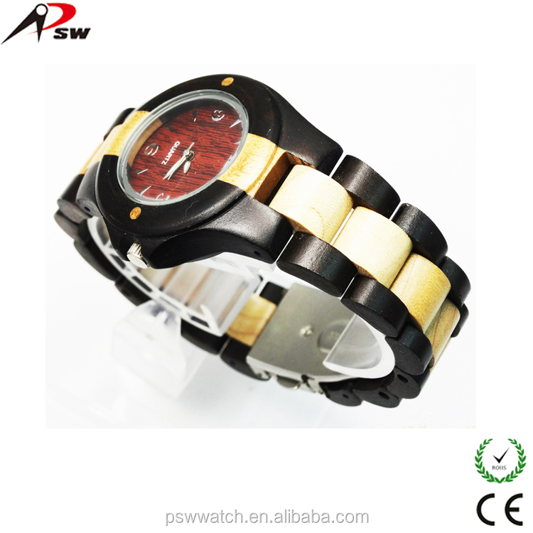 wood watches 2015 customized Japan quartz fashion wood watch