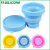 New products portable and Eco-friendly folding silicone drinking cup with lids