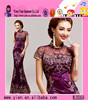 New Fashion Women Lady Elegant Embroidery Prom Vintage Evening Dress Wholesale High Neck Vintage Evening Dress