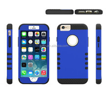 New edition popular Tuff Shield Double Layer strong PC+Silicone armor combo practical case for iPhone 6 4.7""