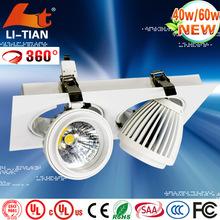 ce rohs retangular 40w 60w recessed adjustable cob downlight ce rohs indoor use
