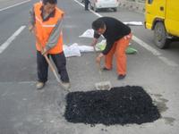 Asphalt pothole batch mixture