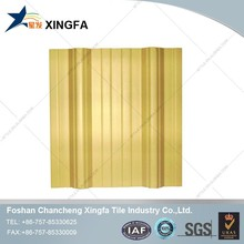 PVC Roof Windows Bamboo Style ASA Coated Synthetic Spanish Transparent Roof Tile