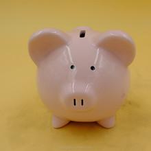 children gift small eyes pig decorative ceramic money bank