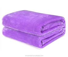 pure color 100% polyeste raschel blanket for home hotel