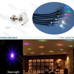 ZZ-03 optic fiber ceiling lustres de cristal crystal light bead for home yard entrance lighting decorative