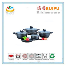2015 hot sale 3pcs forged ceramic enameled kitchen sets cookware set made in india products