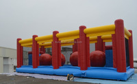 2015 new products inflatable wipeout game hot sale to Europe