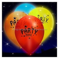 air inflated rubber Balloon LED flashing balloon latex material for Party decoration gifts with customzied printing