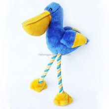 Pet Products plush pet toy plush pelican with rope