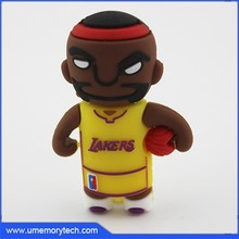 Basketball player shape high quality flash drive cheap pen drive wholesale memory stick