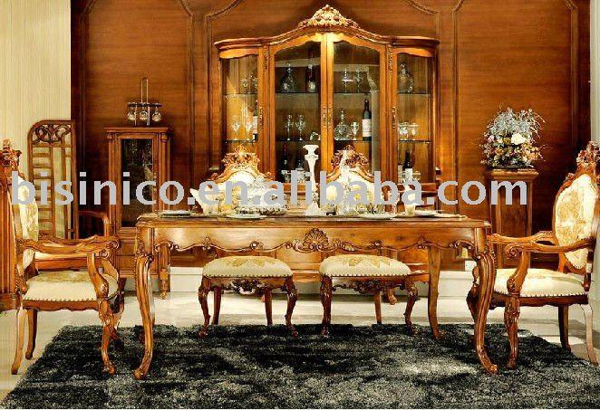 stile inglese set sala da pranzo di lusso sala da pranzo mobili paese ...
