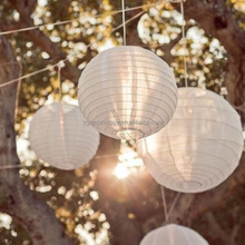 16 inch(40cm) 10pcs/lot white Color style paper lanterns for weddings wholesale wedding decoration in the Party