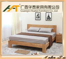 Hot sale solid oak wood bedroom bed latest double bed designs modern bedroom furniture