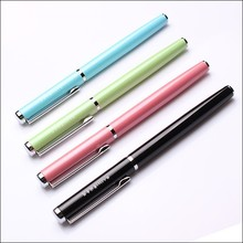 Simple Eco-friendly logo personalized fountain pen for promotional purpose and writing