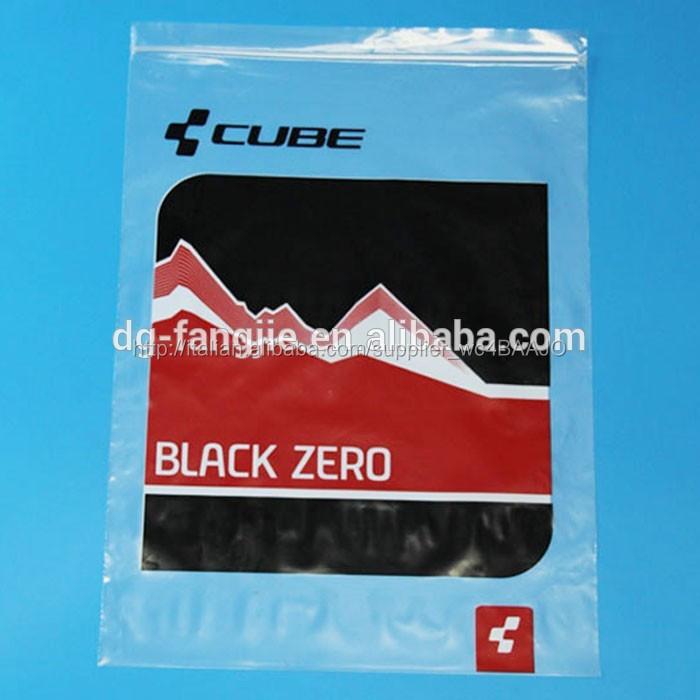 decorativi color stampa sacchetto di chiusura lampo di plastica