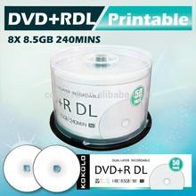 Taiwán en blanco dvd 8x, dvd-r, imprimible dvd 16x