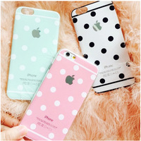 Wave Point Pattern TPU Cell Phone Case For iPhone 6,Soft TPU Mobile Phone Case for iPhone 6S,Back Cover Case For iPhone 6