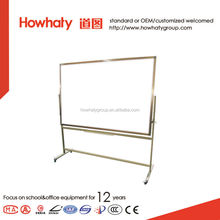 Double-sided Magnetic Mobile Whiteboard with silver frame