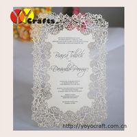 Rose wedding invitation cards Laser cut Wedding invitation cards with printing