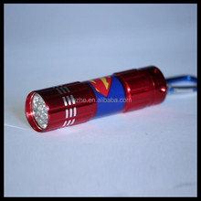 Ningbo Promotional Superman 9 LED Flashlight torch