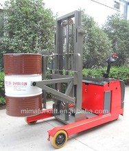 Electric Reach stacker with drum lifter