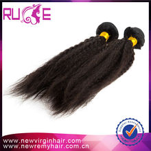 Many color the same price kinky straight human hair extension