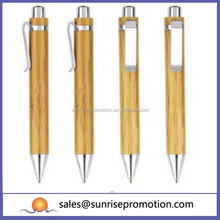 Recycle Eco Material Ball Top Price Bamboo Pen for Promotional