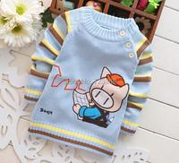 мода осень / зима, ткачество, Детская одежда, мальчики & девочек мультфильм милый поросенок свитера, пуловеры, knitte, t10-098
