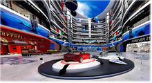 online shops, internet magazines and supermarkets, car dealer showroom,