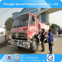 Hot selling 6 wheel dongfeng fecal suction tanker truck vacuum pump