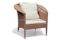 AC-011 Garden Outdoor Alum Frame PE Rattan Wicker Club Chair Dining Side Chair