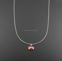 SMALL SIMPLE FOOTBALL FASHION NECKLACE