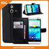 Factory Direct Flip Leather Wallet Case For HTC one M7 with Card Slot