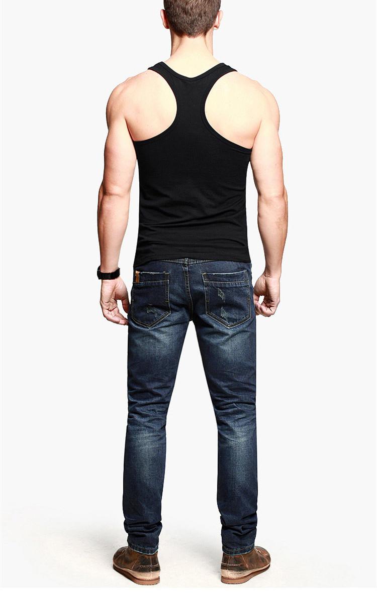 Blank Slim Fit Custom Gym Singlets Wholesale Mens Workout