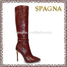 damas botas de tacón alto de diseño de goma botas de venta al por mayor pasos bastante más reciente diseño de botas